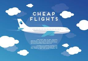 Free Web Travel Vektor Hintergrund mit Flugzeug