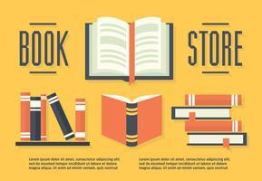 Gratis uppsättning böcker i plattdesign vektor illustration