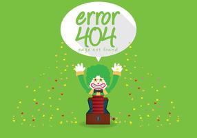 404 Fehler Vektor