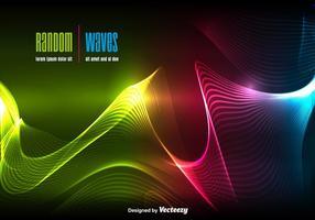 Dynamischer Wellenhintergrund vektor