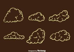 Staubwolken-Cartoon-Effekt-Vektoren vektor