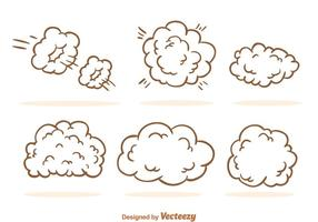 Staubwolken-Karikatur vektor