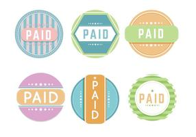 Bunte bezahlte Etikettenvektoren