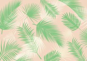 Palm Blatt Muster Vektor