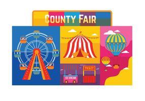 Grafschaft Fair Vektor