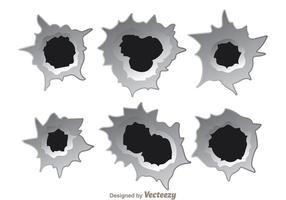 Bullethål-effektvektorer vektor