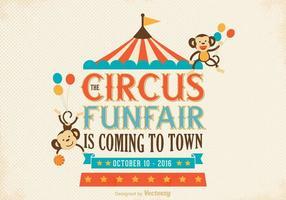 Gratis gammal cirkusaffischvektor