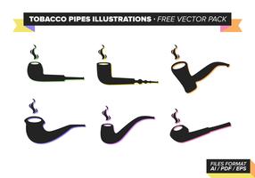 Tobacco Pipes Illustrationen Kostenlose Vector Pack