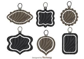 Etikett märke med Zebra Print Vectors