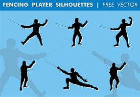 Fechten Spieler Silhouetten Free Vector