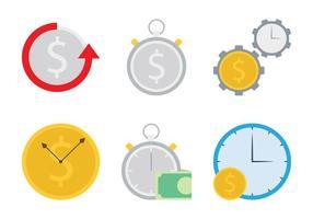 Tid är pengar ikon vektor