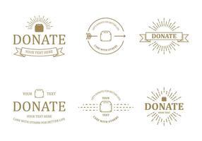 Spenden Sie Abzeichen-Vektoren