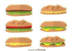 Panini sandwich-vektorer vektor