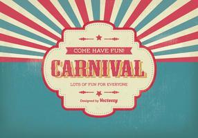 Tappning karneval illustration