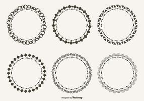 Nette Hand gezeichnete Art-Gekritzel-Rahmen-Satz vektor