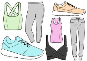 Freie Workout Kleidung Vektor