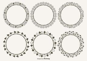 Nette dekorative Rahmen Set vektor