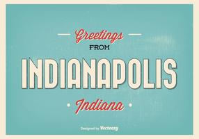 Indianapolis Retro Gruß Illustration
