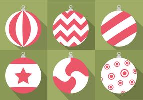 Free Christmas Baubles Vektor