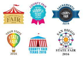 Grafschaft Fair Logos vektor