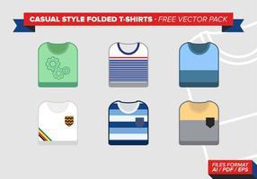 Lässige Art gefaltete T-Shirts Freier vektor-Satz