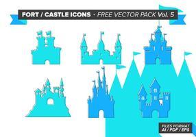 Fort Burg Icons kostenlos Vektor Pack Vol. 5
