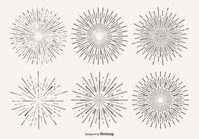 Vintage Starburst Form Satz