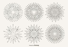 Vintage Starburst Form Satz vektor