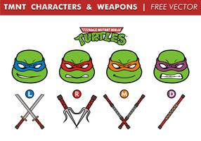 TMNT Charaktere & Waffen Free Vector