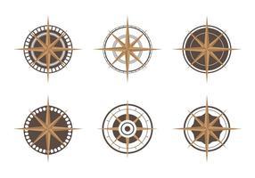 Kompass ikonuppsättning vektor
