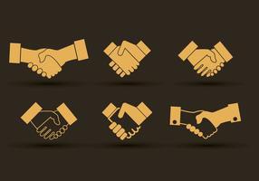 Set av handskaknings ikoner design vektor