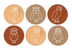 Scheune Owl Icon Vektor