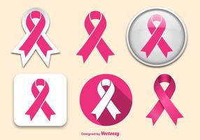 Bröstcancerband vektor
