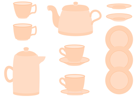 Free Tea Set Vektor
