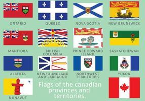 Kanadensiska flaggor vektor