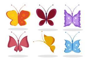 Fjäril tecknad vektor