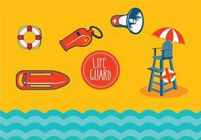 Lifeguard-Standvektoren vektor
