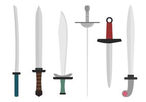 Freie Schwerter Vektor
