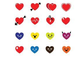Herzen Icons vektor