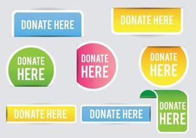 Spenden Banner vektor