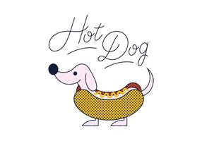 Gratis Hot Dog vektor