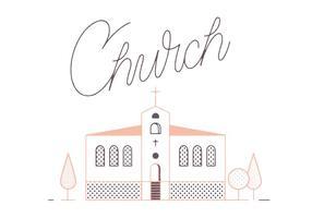 Freier Kirche Vektor