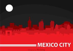 Mexiko-Stadt-Nacht vektor