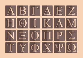 Griechisches Alphabet Vector Pack