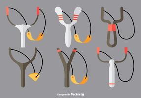 Slingshot flache Symbole