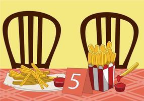 Pommes frites vektor