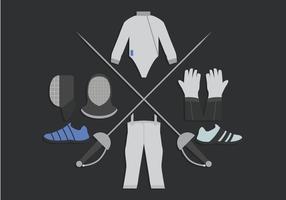 Fechten Der Sport Vektor