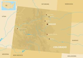 Colorado Mountains Karte