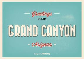 Retro Stil Grand Canyon Greeting Illustration vektor