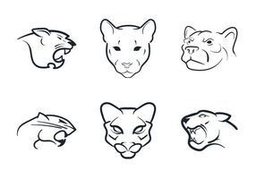 Free Cougar Maskottchen Vektor-Illustration vektor